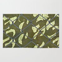 camouflage Area & Throw Rugs featuring Camouflage  by Ethna Gillespie