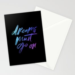 Dreams Must Go On - Holographic Foil Stationery Cards