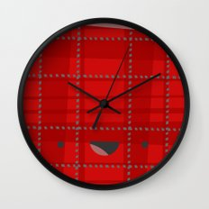 Happy Wrapping Wall Clock