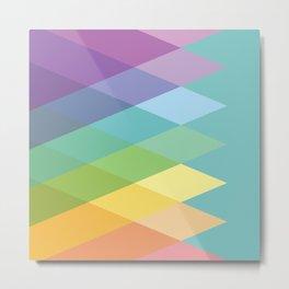 Geometric Rainbow Triangles Metal Print