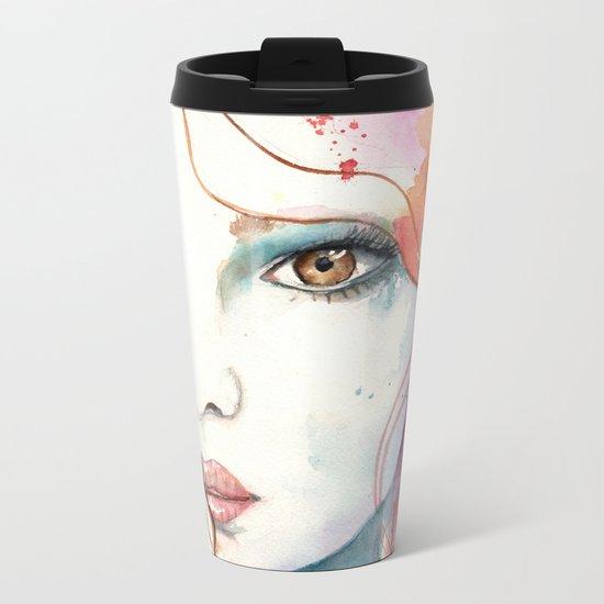 Girl ASD 01 Metal Travel Mug