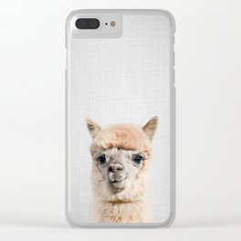 Alpaca - Colorful Clear iPhone Case