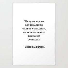 Stoic Wisdom Quotes - Viktor Frankl Art Print