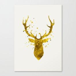 Gold Deer Canvas Print