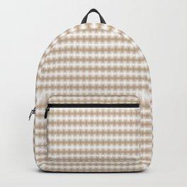 Pantone Hazelnut Blurred Horizontal Lines Symmetrical Pattern Backpack