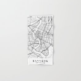 Bangkok Thailand Street Map Minimal Hand & Bath Towel