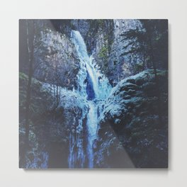 Hole In The Wall Falls In Winter Metal Print