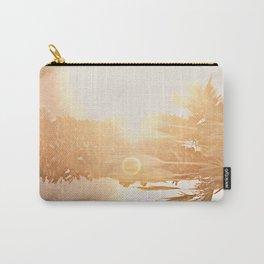 California Fine Art Print Yellow, Peach, Cream La Quinta Palm Tree Photograph - Desert Sunset  Carry-All Pouch