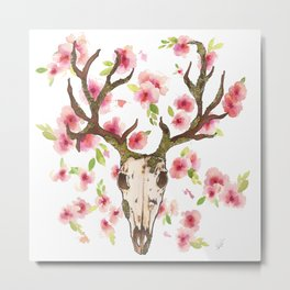Deer and moss Metal Print