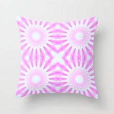 Pink Pinwheel Flowers Throw Pillow