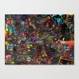 Ode to SAMO Canvas Print