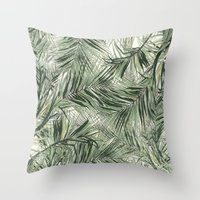 palms Throw Pillows featuring palms by .eg.