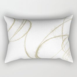 Beige and Brown Minimalist Abstract Line Drawing 3 Rectangular Pillow
