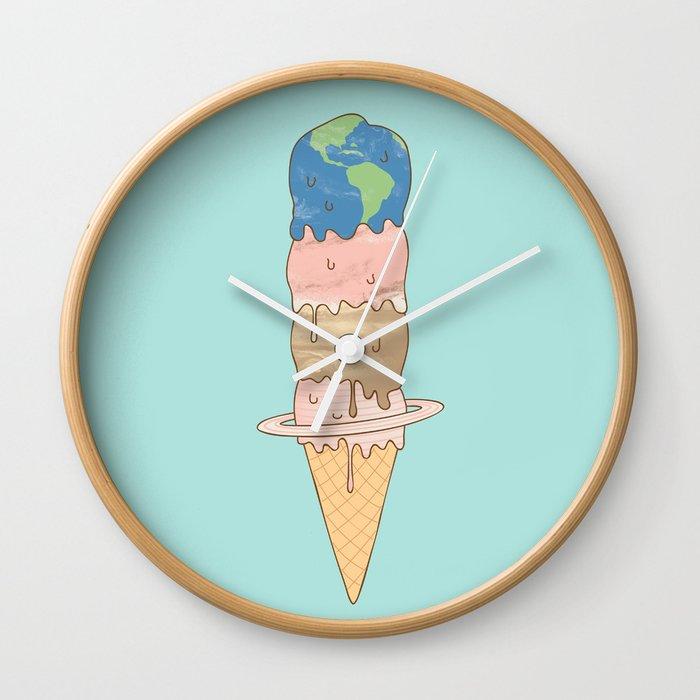 melting planets Wall Clock