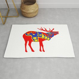 Graphic Elk 02 Swedish Dala Male Rug