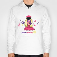 minaj Hoodies featuring Jynxi Minaj  by The Art of Leena Cruz :)