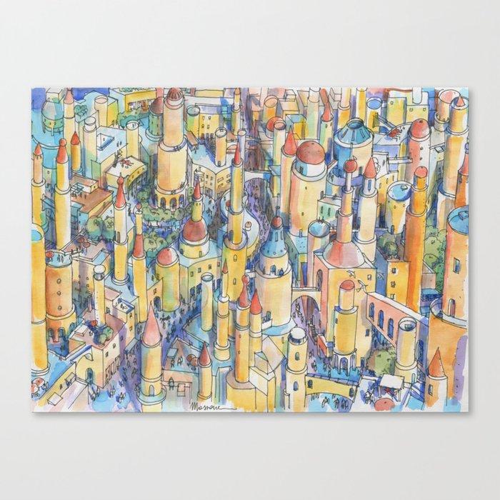Citta' di fantasia Canvas Print