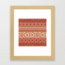 Ornate Moroccan in Red Framed Art Print