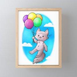 Floating Away Framed Mini Art Print