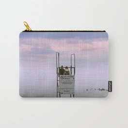COUPLE AT SUNSET BEACH Carry-All Pouch