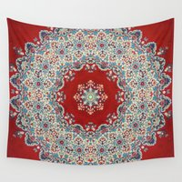 rug Wall Tapestries featuring Mandala Nada Brahma  by Elias Zacarias