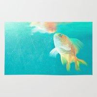 goldfish Area & Throw Rugs featuring Goldfish by Elena Gianniki
