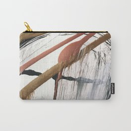 01026: a minimal, pretty, abstract in black, white, gold, and pink Carry-All Pouch