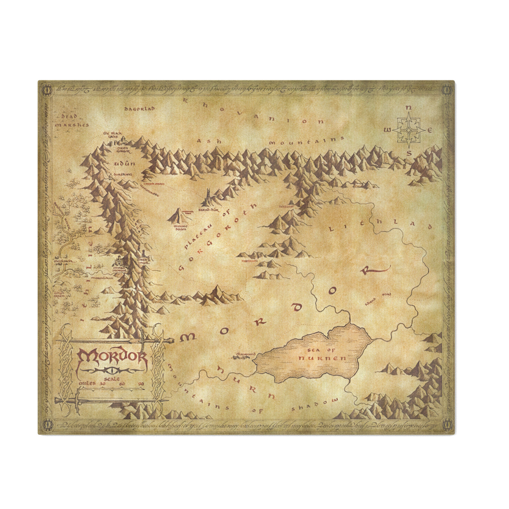 MapofMordor_Throw_Blanket_by_mapsofmiddleearth