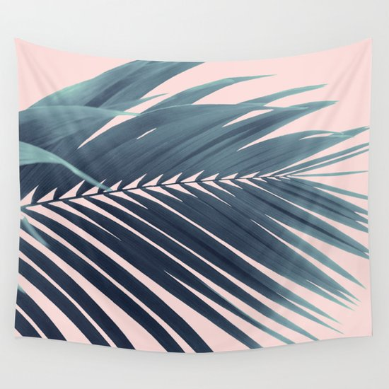 Palm Leaf Blush Vibes #1 #tropical #decor #art #society6 by anitabellajantz
