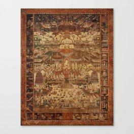 Buddhist Mandala Taima Motif Canvas Print