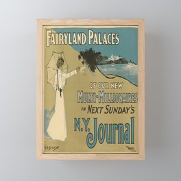 fairyland palaces   n.y. journal. 1900  oude poster Framed Mini Art Print
