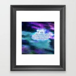 inspirational fog Framed Art Print