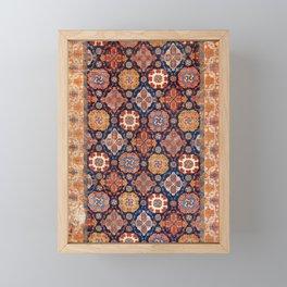 Tuduc Romanian Holbein Carpet Replica Print Framed Mini Art Print