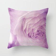 Vintage Ranunculus Throw Pillow