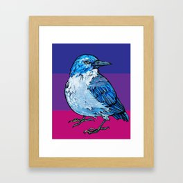 L'il Lard Butt Graphic Scrub Jay Framed Art Print