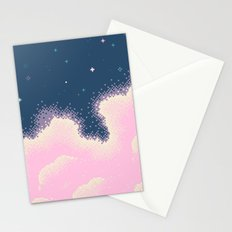 Pixel Cotton Candy Galaxy Stationery Cards