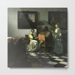 Stolen Art - The Concert by Johannes Vermeer Metal Print