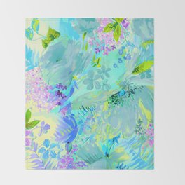 abstract floral Throw Blanket