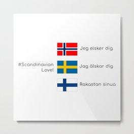 Scandinavian love Metal Print