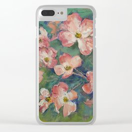 Pink Dogwood Clear iPhone Case