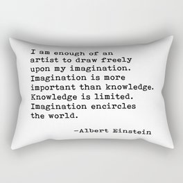 Albert Einstein Quote 08 Rectangular Pillow