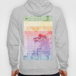 Rainbow World Map Hoody