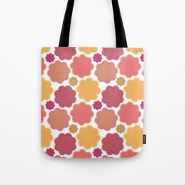 Flowers, Petals, Blossoms - Yellow Green Pink Tote Bag