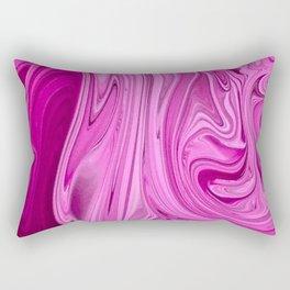 Marbled Pink Paint Shades Rectangular Pillow