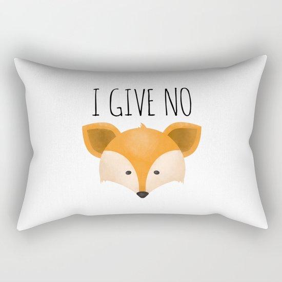 I Give No Fox Rectangular Pillow