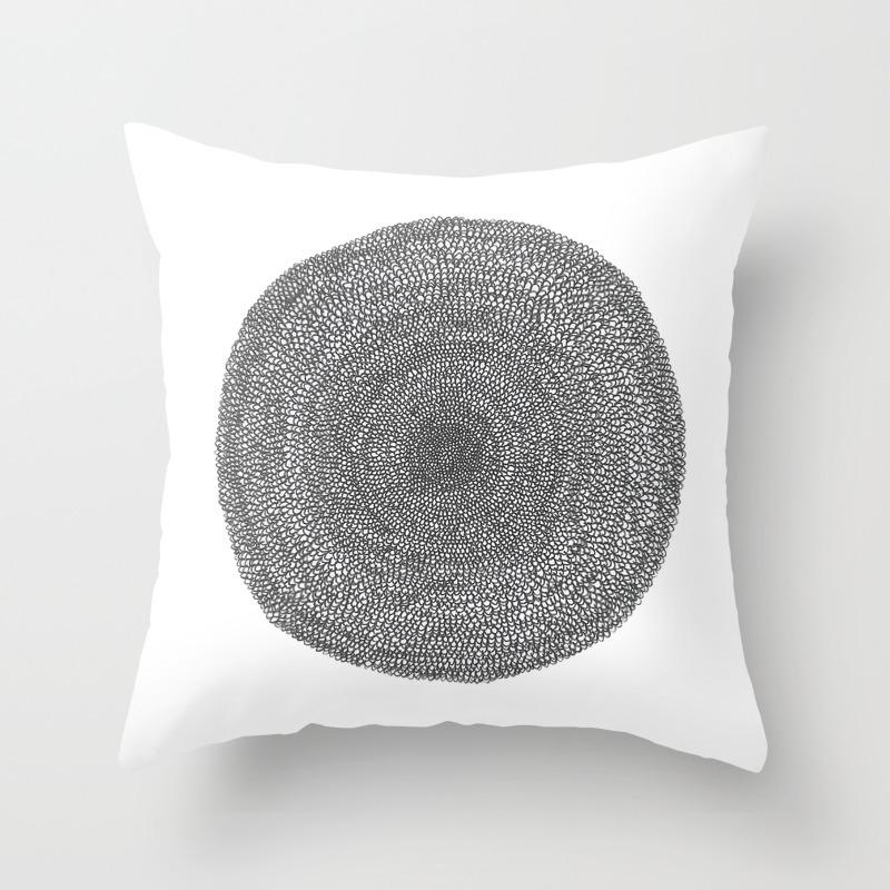 Circle Semi Circles Throw Pillow By Question Society6