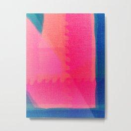 Art abstract pink blue Metal Print
