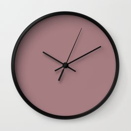 The color of cocoa Wall Clock