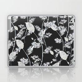 white leaf pattern Laptop & iPad Skin