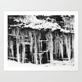 Miller's Creek Icicles Art Print